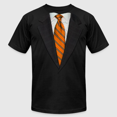 Orange Suit and NeckTie - Men's Fine Jersey T-Shirt