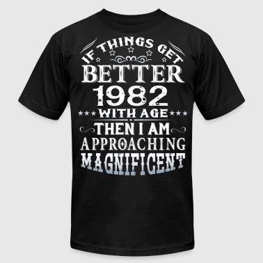IF THINGS GET BETTER WITH AGE-1982 - Men's Fine Jersey T-Shirt