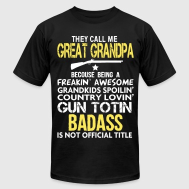 BADASS GREAT GRANDPA - Men's Fine Jersey T-Shirt
