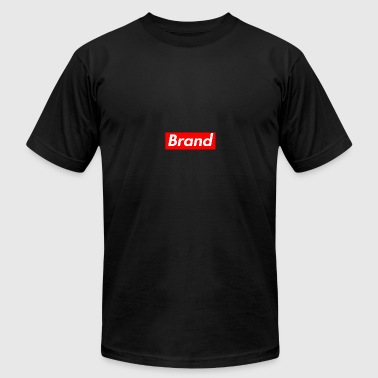 Generic Red Box Brand Rectangular Logo Shirt - Men's Fine Jersey T-Shirt