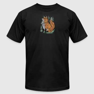 Polygon Fox Graphic - Men's T-Shirt by American Apparel