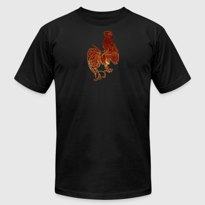 golden-rooster - Men's T-Shirt by American Apparel