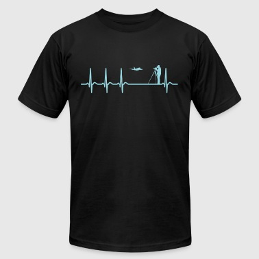 Heartbeat Spotting Airplanes Cool Funny Geek Gift - Men's T-Shirt by American Apparel