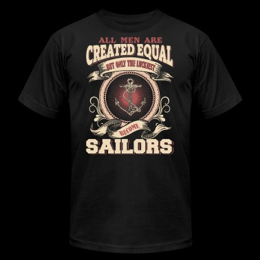 The Luckiest Men Become Sailors - Men's Fine Jersey T-Shirt
