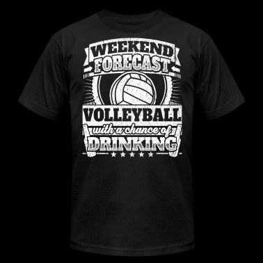 Weekend Forecast Volleyball Drinking Tee - Men's Fine Jersey T-Shirt