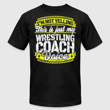Funny Wrestling coach: My Wrestling Coach Voice - Men's Fine Jersey T-Shirt