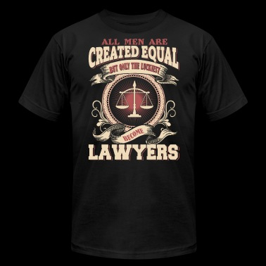 The Luckiest Men Become Lawyers - Men's Fine Jersey T-Shirt