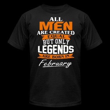 Legends are born in February shirt - Men's Fine Jersey T-Shirt