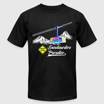 snowboarders paradise - Men's T-Shirt by American Apparel