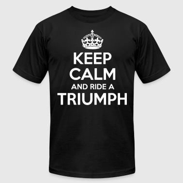 Keep Calm and Ride a Triumph Motorbike Birthday - Men's Fine Jersey T-Shirt