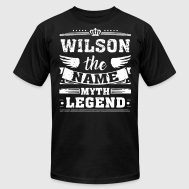 WILSON THE NAME THE MYTH THE LEGEND - Men's Fine Jersey T-Shirt
