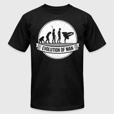 Funny B-Boy: Graphic B-Boying Evolution Breakdance - Men's Fine Jersey T-Shirt