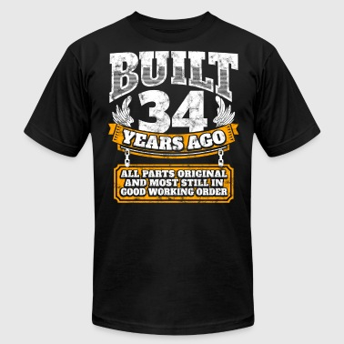 34th birthday gift idea: Built 34 years ago Shirt - Men's Fine Jersey T-Shirt