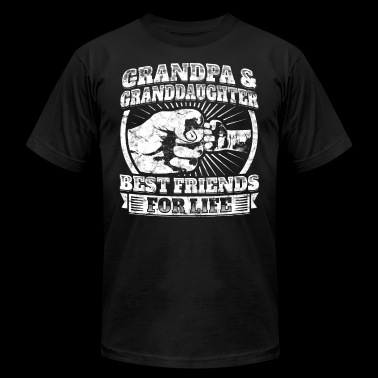 Grandpa Granddaughter Friends Grandparent Kids Tee - Men's Fine Jersey T-Shirt