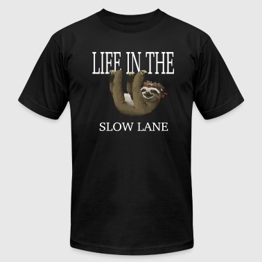 Funny Sloth Shirt Life In The Slow Lane - Men's Fine Jersey T-Shirt