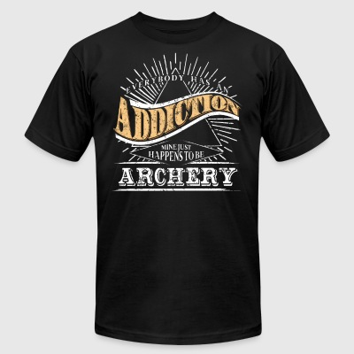 Addiction Is Archery Shirt Gift Youth Archery T Shirt - Men's T-Shirt by American Apparel
