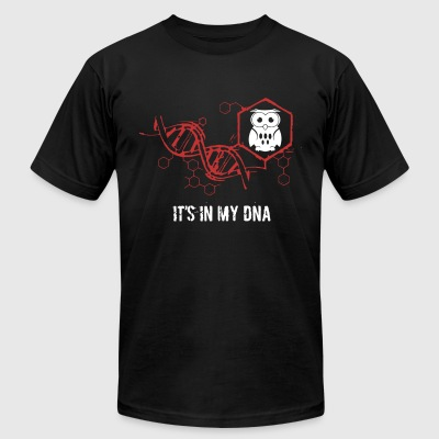 owl it's in my dna - Men's T-Shirt by American Apparel