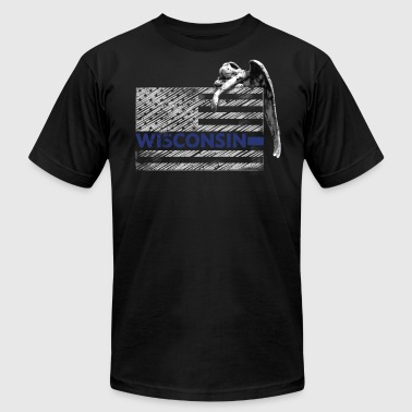 Wisconsin Police State Police Guardian Angel - Men's Fine Jersey T-Shirt