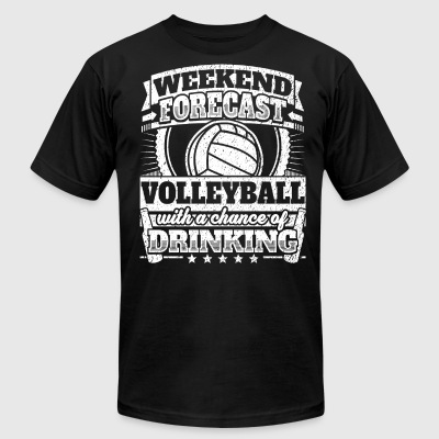 Weekend Forecast Volleyball Drinking Tee - Men's T-Shirt by American Apparel