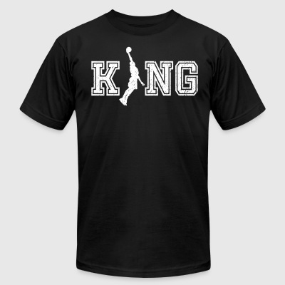 King of bball graphic basketball shirt - Men's T-Shirt by American Apparel