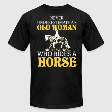Old Woman Who Rides A Horse T Shirt - Men's Fine Jersey T-Shirt