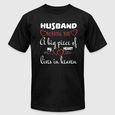Husband Missing You T Shirt - Men's T-Shirt by American Apparel