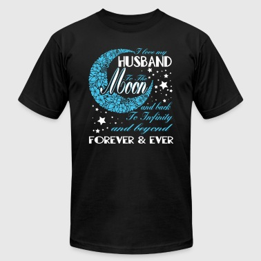 I Love My Husband To The Moon T Shirt - Men's Fine Jersey T-Shirt