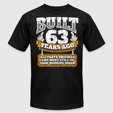 63th birthday gift idea: Built 63 years ago Shirt - Men's T-Shirt by American Apparel