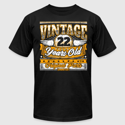 Funny 22th Birthday Shirt: Vintage 22 Years Old - Men's T-Shirt by American Apparel