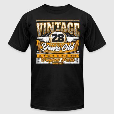 Funny 28th Birthday Shirt: Vintage 28 Years Old - Men's T-Shirt by American Apparel