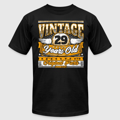 Funny 29th Birthday Shirt: Vintage 29 Years Old - Men's T-Shirt by American Apparel