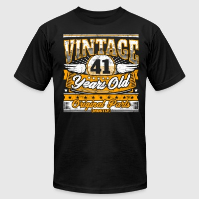 Funny 41th Birthday Shirt: Vintage 41 Years Old - Men's T-Shirt by American Apparel