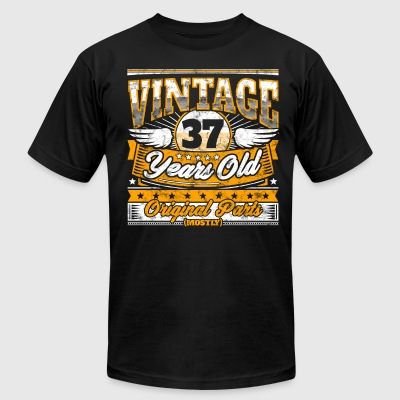 Funny 37th Birthday Shirt: Vintage 37 Years Old - Men's T-Shirt by American Apparel