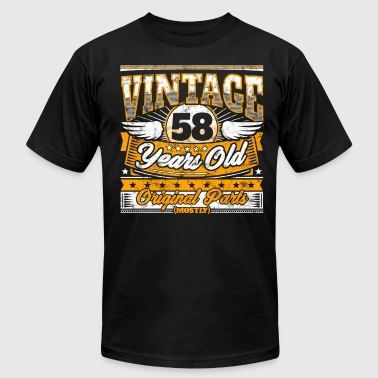 Funny 58th Birthday Shirt: Vintage 58 Years Old - Men's T-Shirt by American Apparel