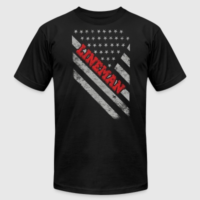 Lineman Flag - Men's T-Shirt by American Apparel