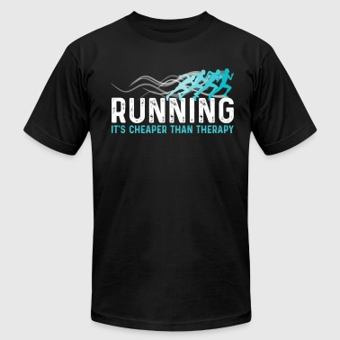 Running Shirt - Running Cheaper Than Therapy Tee - Men's T-Shirt by American Apparel