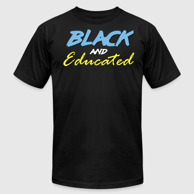 SUBR - Black and Educated - Men's T-Shirt by American Apparel
