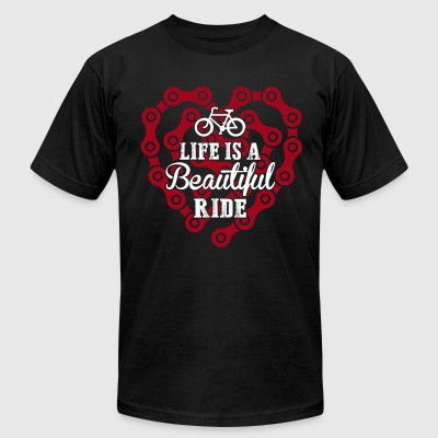 Life Is A Beautiful Ride - Men's T-Shirt by American Apparel