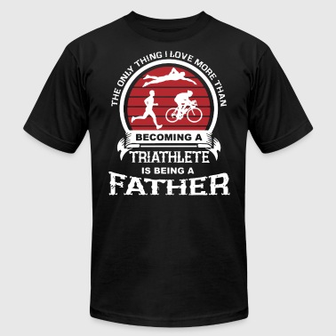 Triathlete Father Shirt - Men's T-Shirt by American Apparel
