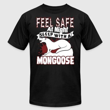 feel safe at night sleep with a mongoose shirt - Men's Fine Jersey T-Shirt