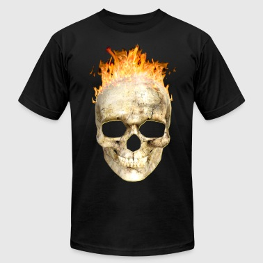 flaming skull 200 4kh - Men's T-Shirt by American Apparel