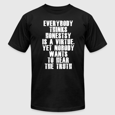 Honesty is a virtue - Men's T-Shirt by American Apparel