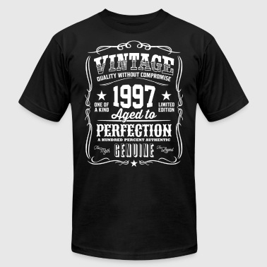 Vintage 1997 Aged to Perfection - Men's T-Shirt by American Apparel