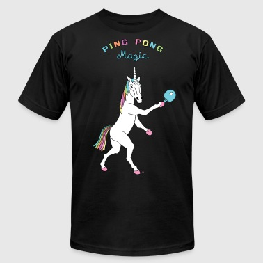 Ping Pong Magic Unicorn Outline - Men's Fine Jersey T-Shirt