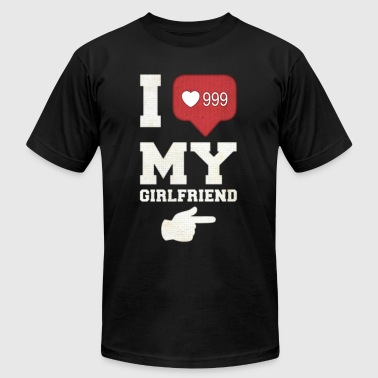 I love my girlfriend - Men's Fine Jersey T-Shirt