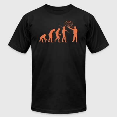 Evolution of Thug - Men's T-Shirt by American Apparel