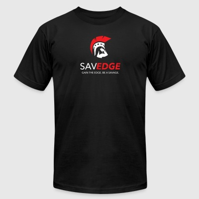 Savedge Full Logo - Men's T-Shirt by American Apparel