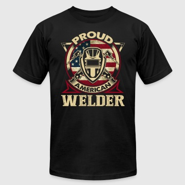 PROUD WELDER SHIRT - Men's Fine Jersey T-Shirt