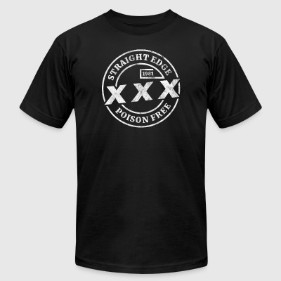 Straight Edge XXX Poison Free - Shirt design - Men's T-Shirt by American Apparel