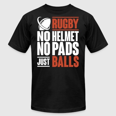 Rugby No Helmet No Pads Just Balls T Shirt - Men's Fine Jersey T-Shirt